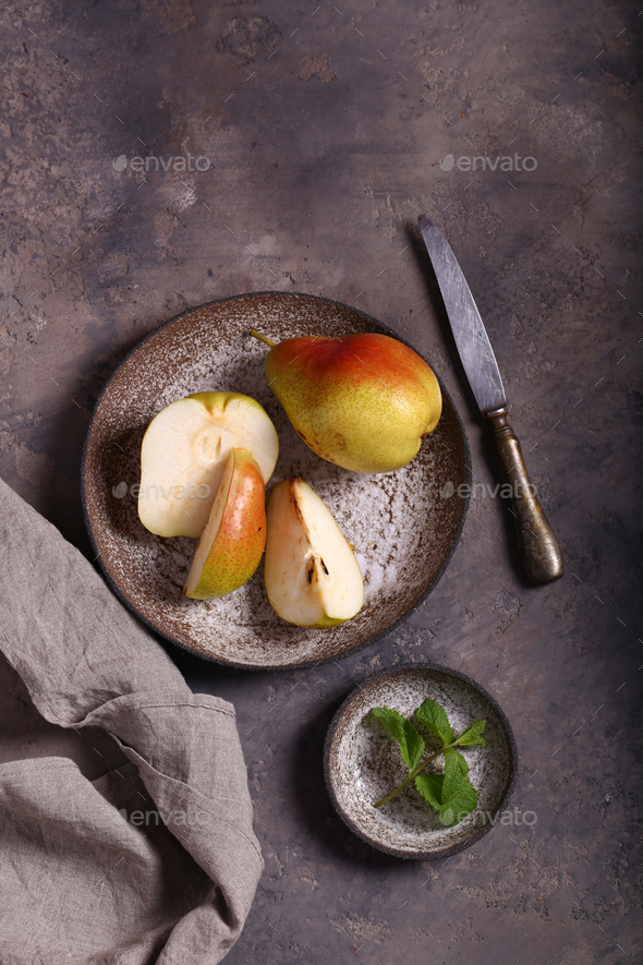 Fresh Organic Pears - Stock Photo - Images