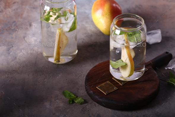 Pear Lemonade Ice Tea - Stock Photo - Images