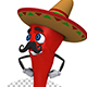 Mexican Red Chilli Pepper Cartoon Character Dance (3-Pack) - VideoHive Item for Sale