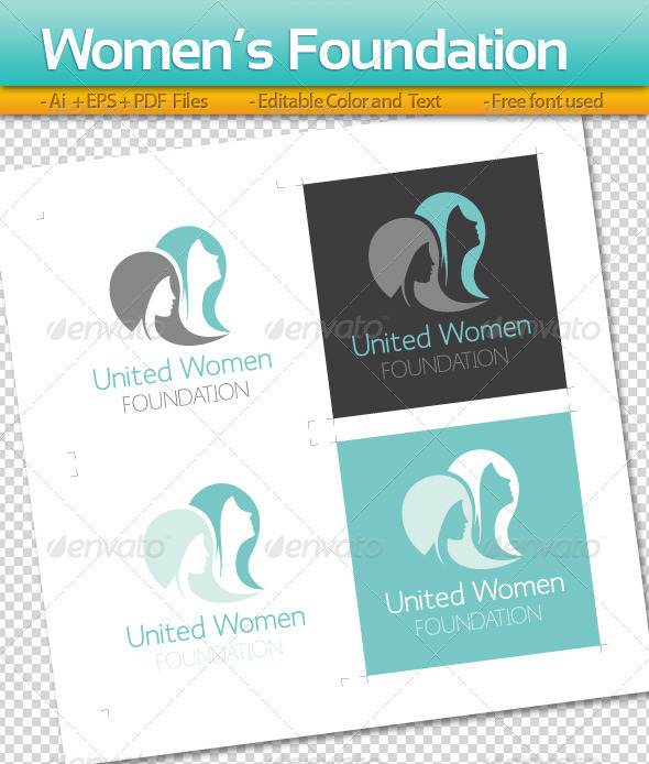 Women's Foundation - Humans Logo Templates
