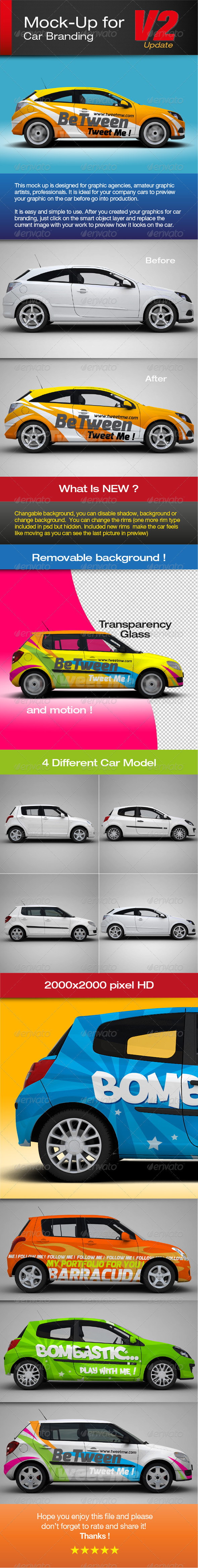 Mock-up for car branding - Vehicle Wraps Print