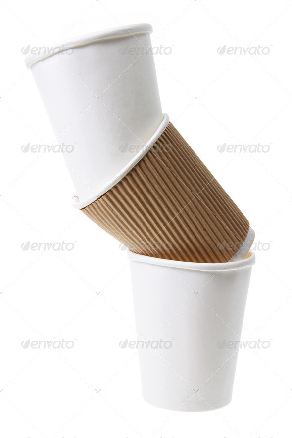 Stack of Paper Cups - Stock Photo - Images