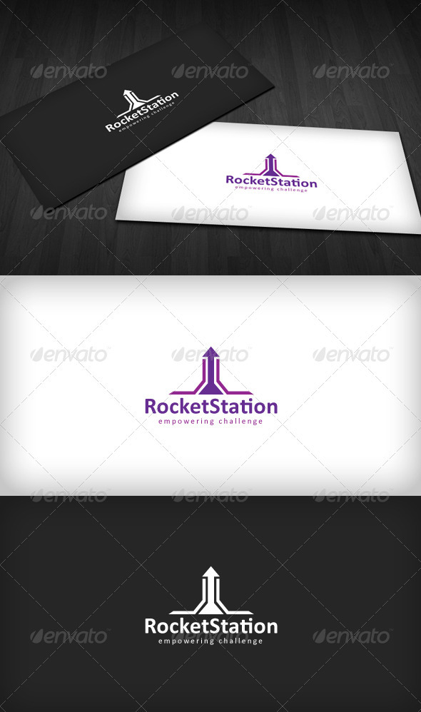 Rocket Station Logo - Vector Abstract
