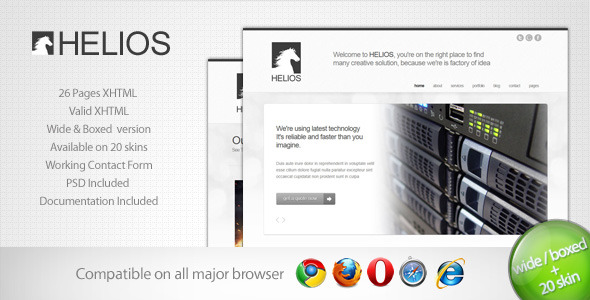 Free Download Helios - Minimalist Business Template 7 Nulled Latest Version