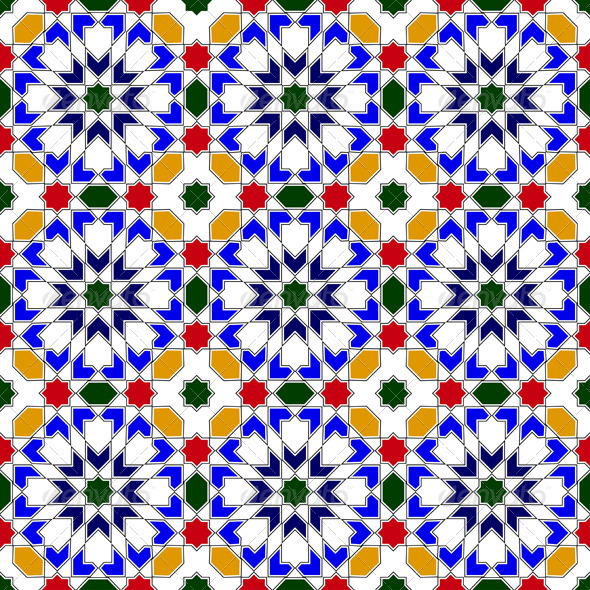Mosaic in traditional Islamic design - Patterns Decorative