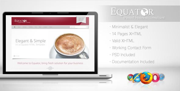 Free Download Equator - Minimalist Business Template 5 Nulled Latest Version