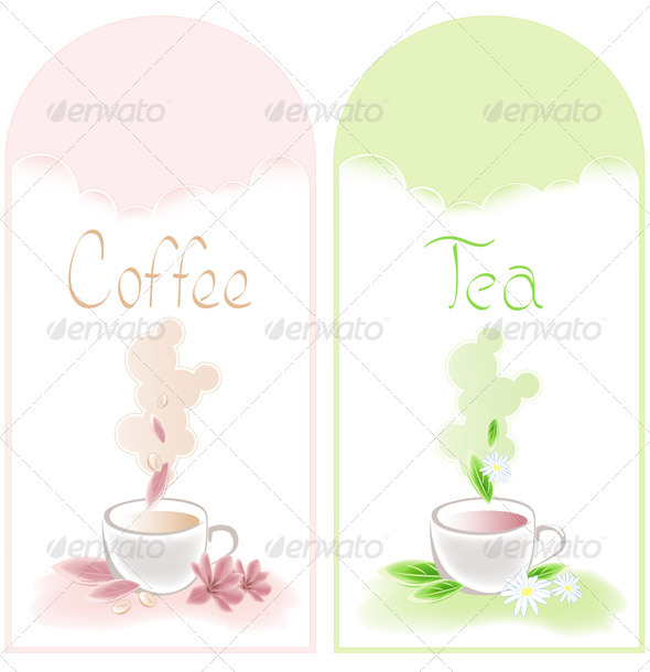 Tea and Coffee Banners - Food Objects