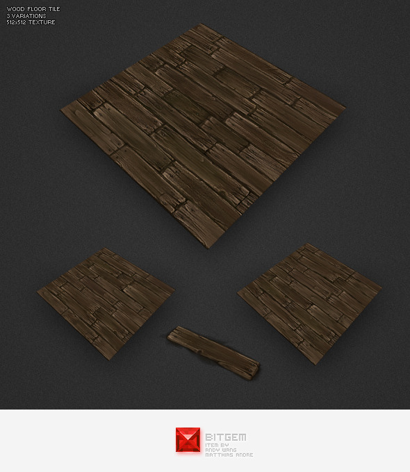 Low Poly Floor Boards - 3DOcean Item for Sale