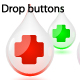 Health drop buttons... - GraphicRiver Item for Sale