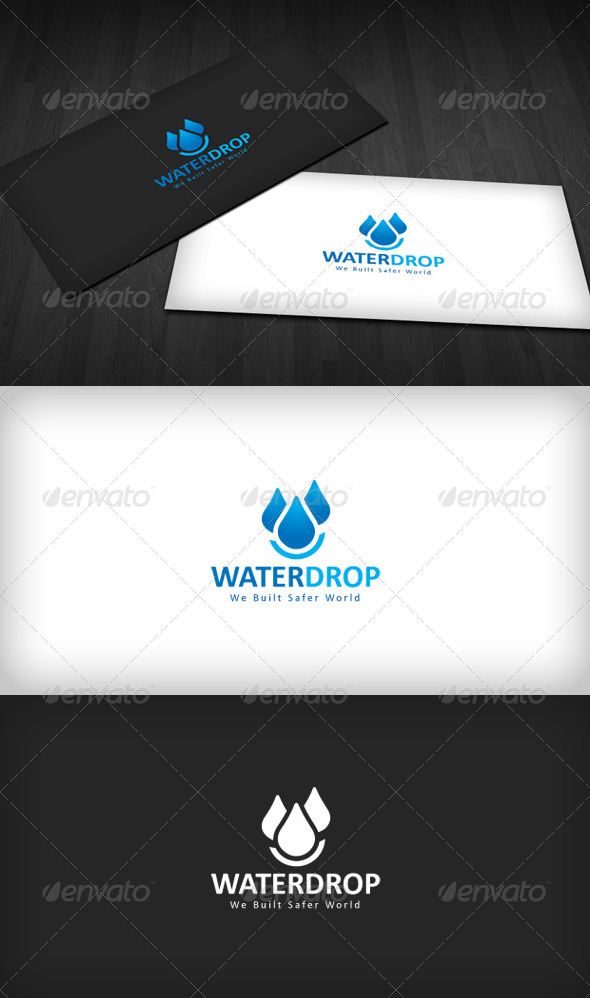 Water Drop Logo - Vector Abstract