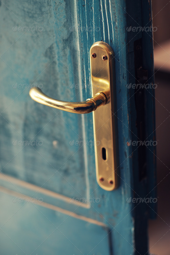 Gold handle close up - Stock Photo - Images