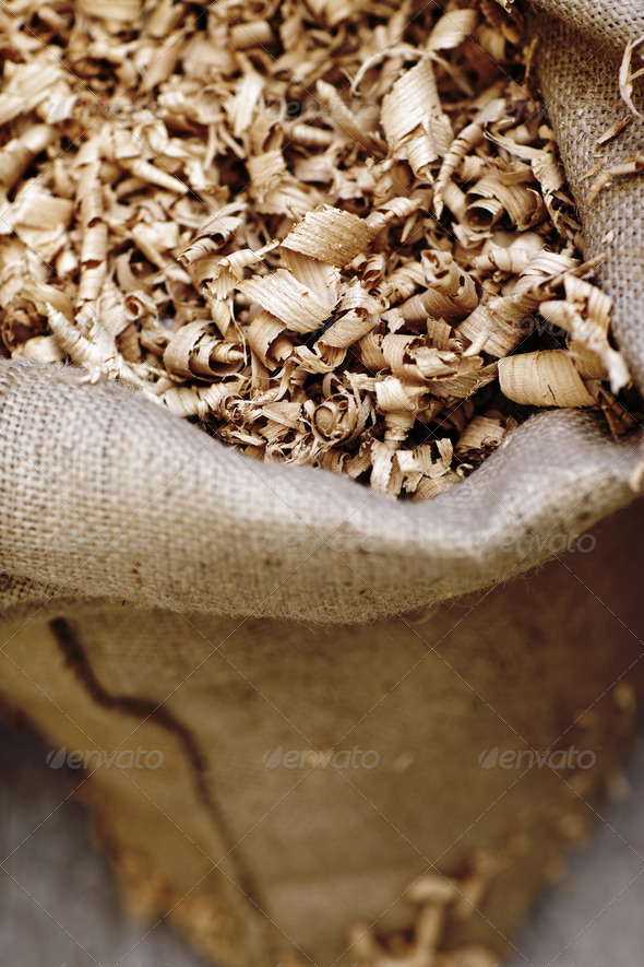 Wood shavings - Stock Photo - Images