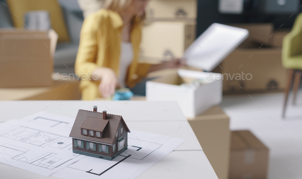 Home renovation and relocation - Stock Photo - Images
