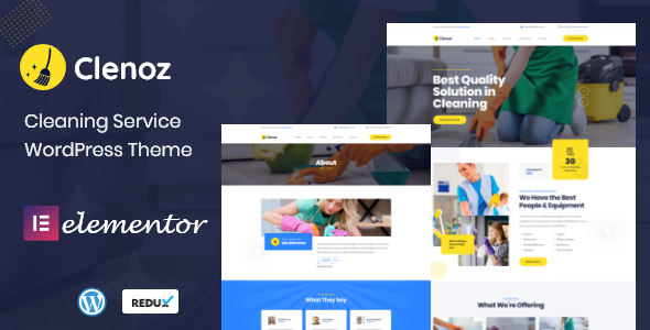 Clenoz - Cleaning Service WordPress Theme