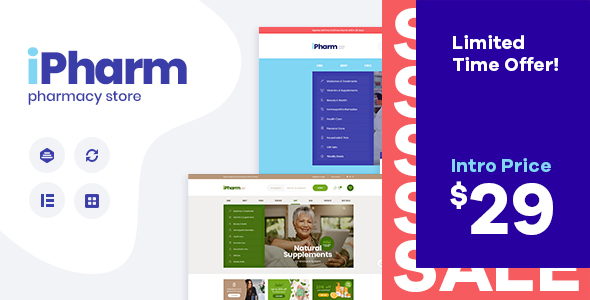IPharm – Online Pharmacy & Medical WordPress Theme