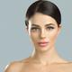 Beautiful woman healthy skin care concept portrait close up gray background. Studio shot. - PhotoDune Item for Sale