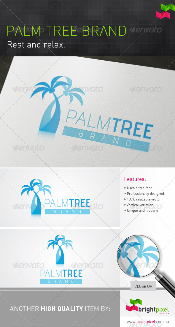 Palm Tree Brand - Nature Logo Templates