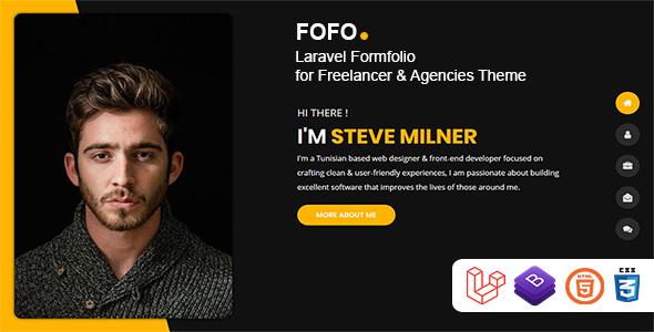 Download Fofo – Laravel Formfolio for Freelancer & Agencies Theme Free Nulled