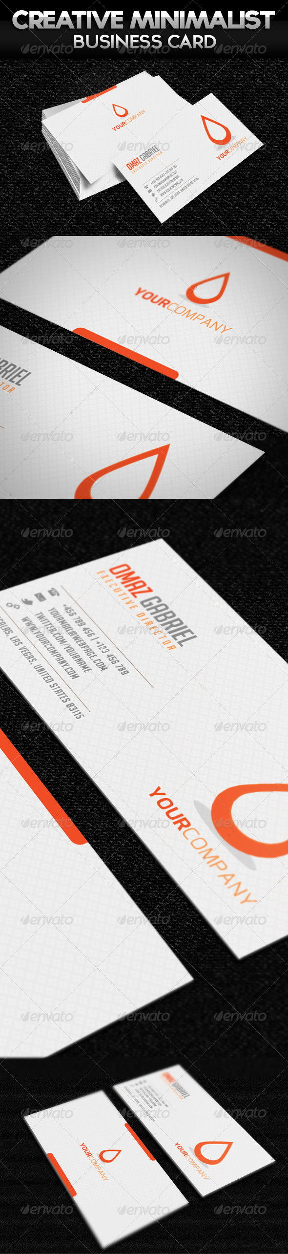 Creative Minimalist Business Card - Business Cards Print Templates