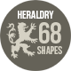 68 Photoshop Heraldry Shapes 1 - GraphicRiver Item for Sale