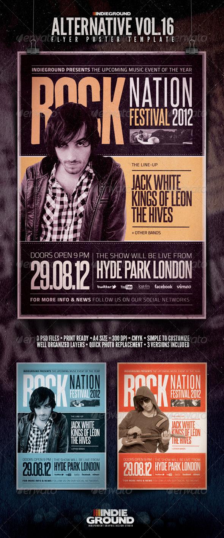 Alternative Flyer/Poster Vol. 16 - Concerts Events