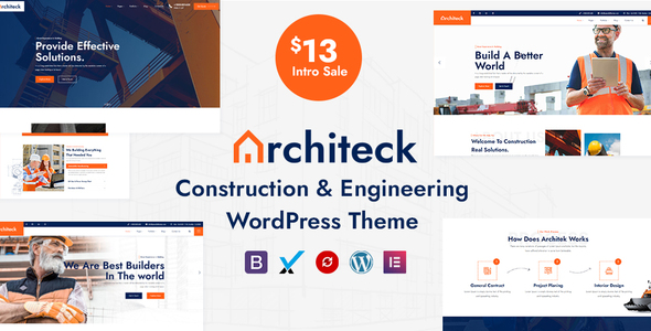 Download Architeck – Construction WordPress Theme Free Nulled