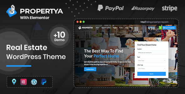 Propertya – Real Estate WordPress Theme