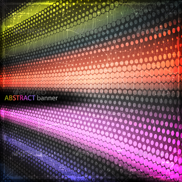 Colorful Grunge Banner - Abstract Conceptual