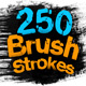 250 Paint Matte Elements, Brush & Strokes - VideoHive Item for Sale