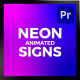 Neon Animation Signs Food Collection Premiere Pro MOGRT - VideoHive Item for Sale