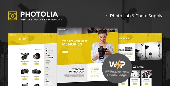 Photolia   Photo Company & Supply Store WordPress Theme