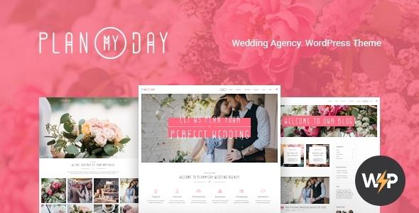 Plan My Day   Wedding / Event Planning Agency WordPress Theme