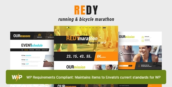 Redy | Marathon & Running Sports WordPress Theme