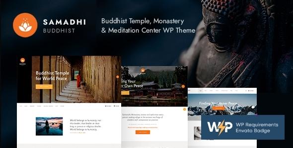 Samadhi | Oriental Buddhist Temple WordPress Theme
