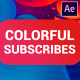 Colorful Subscribes Pack | After Effects - VideoHive Item for Sale