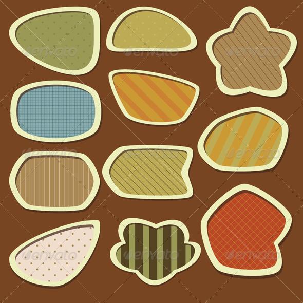 Labels Set - Earth tones - Decorative Symbols Decorative