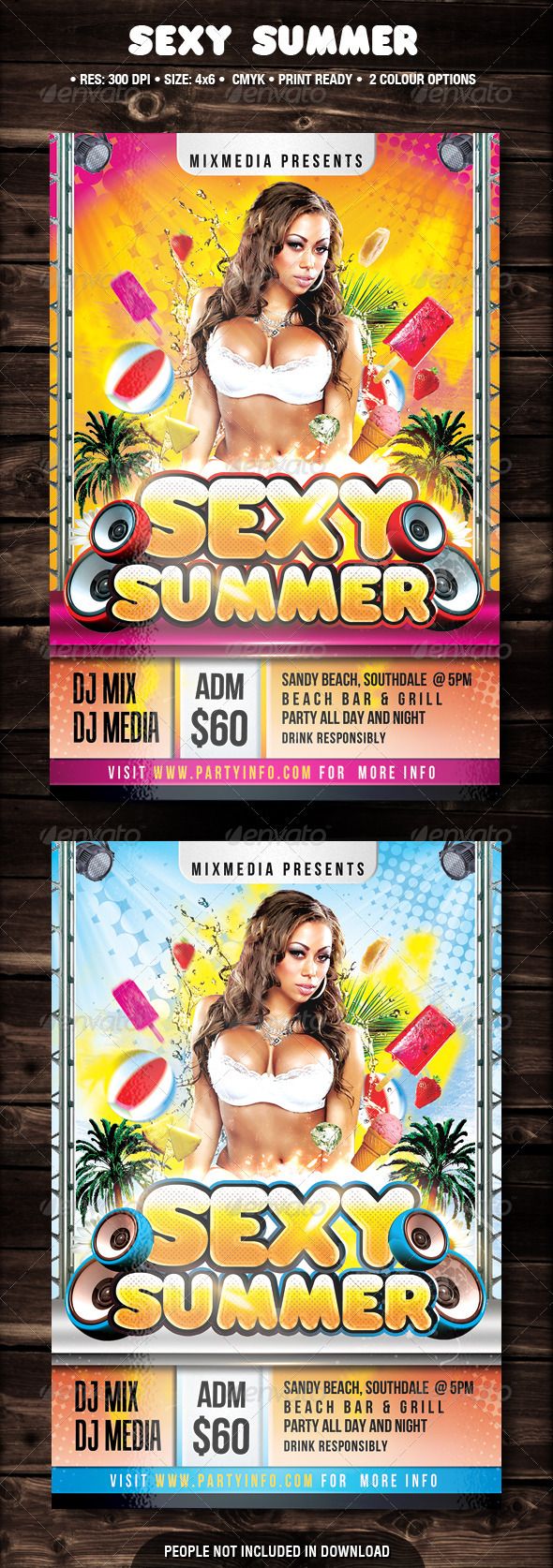 Sexy Summer Flyer - Flyers Print Templates