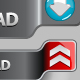 Upload and Download Button Set 4 - GraphicRiver Item for Sale