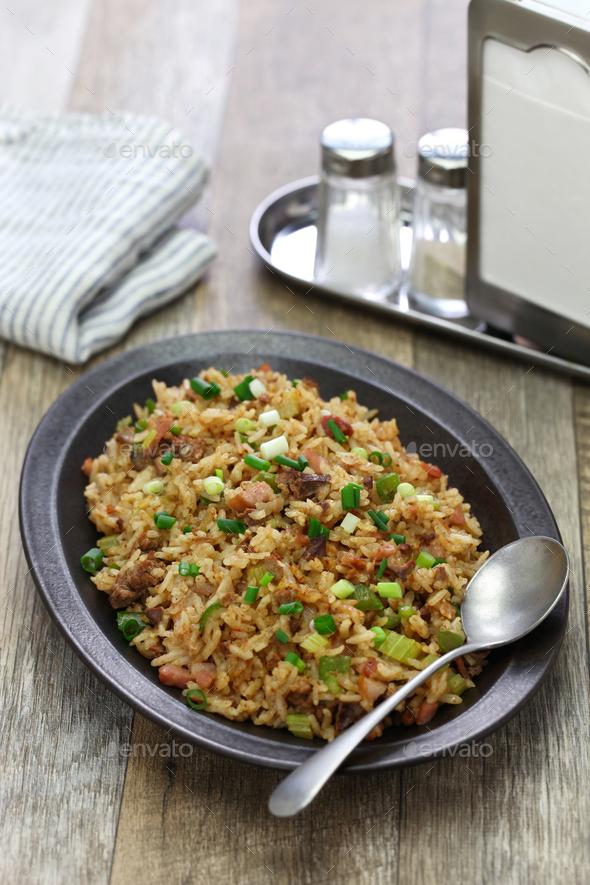 classic cajun dirty rice, southern food - Stock Photo - Images