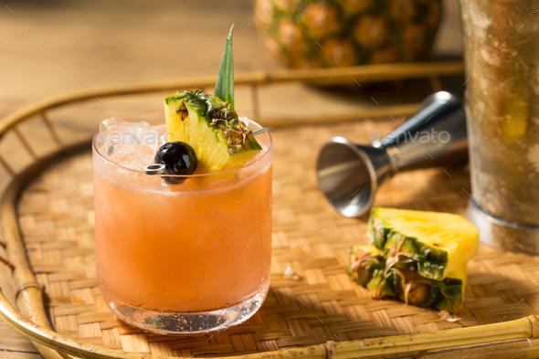 Homemade Boozy Mai Tai Cocktail - Stock Photo - Images