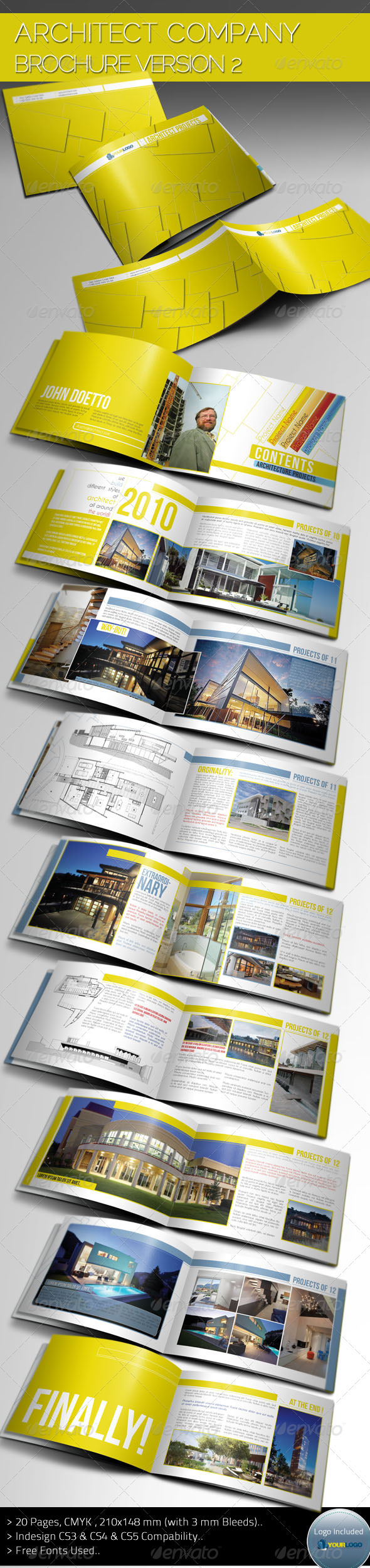 Architecture Brochure Template Ver.II by balkay | GraphicRiver