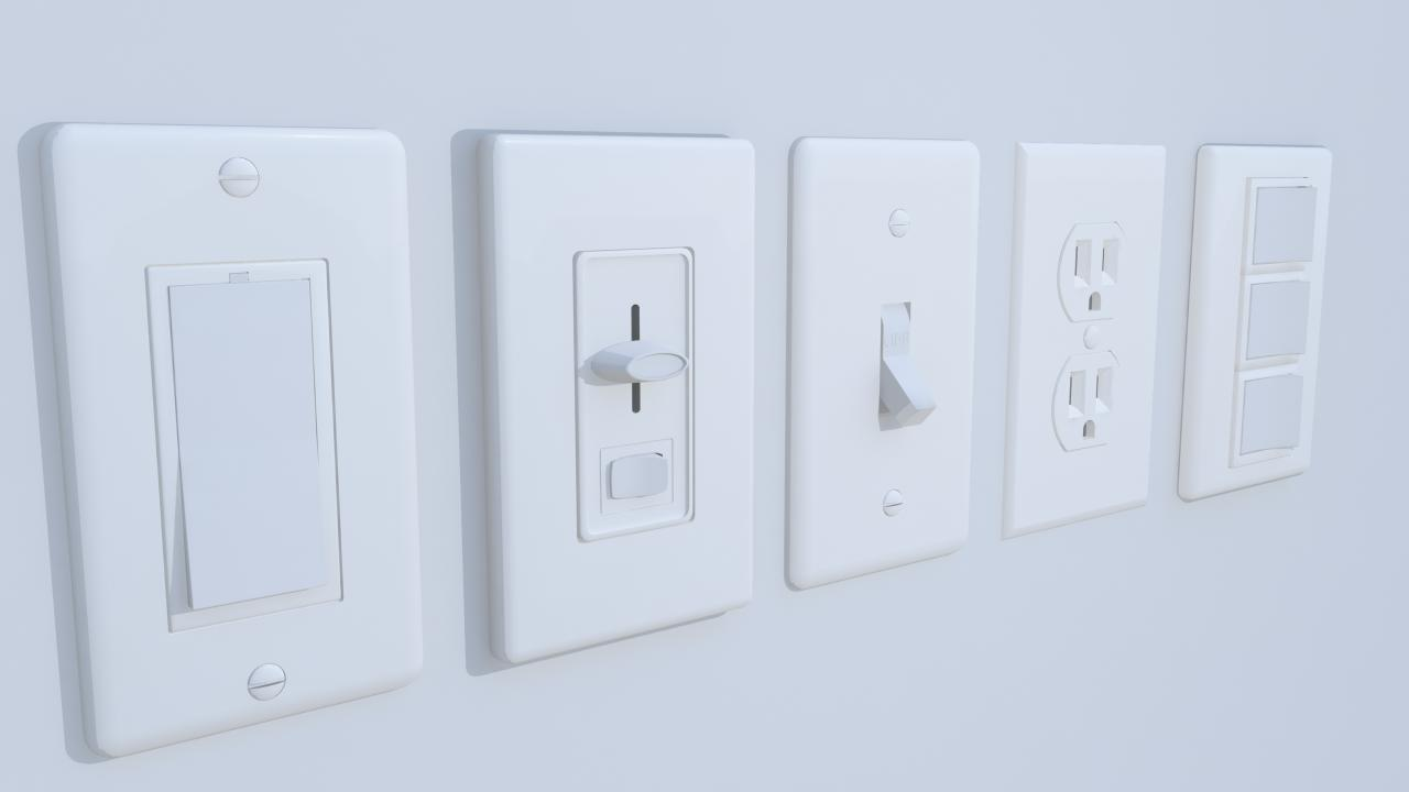 Wall Switches and Outlet Bundle by shulgachy | 3DOcean
