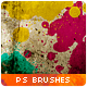 20 Paint Splatter Brushes - GraphicRiver Item for Sale