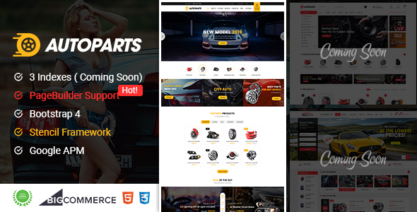 AutoParts – Responsive BigCommerce Theme With Page Builder Support