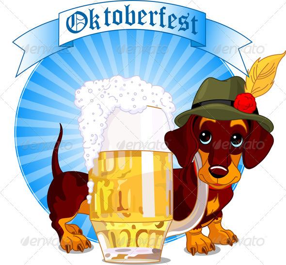 Oktoberfest dog - Animals Characters