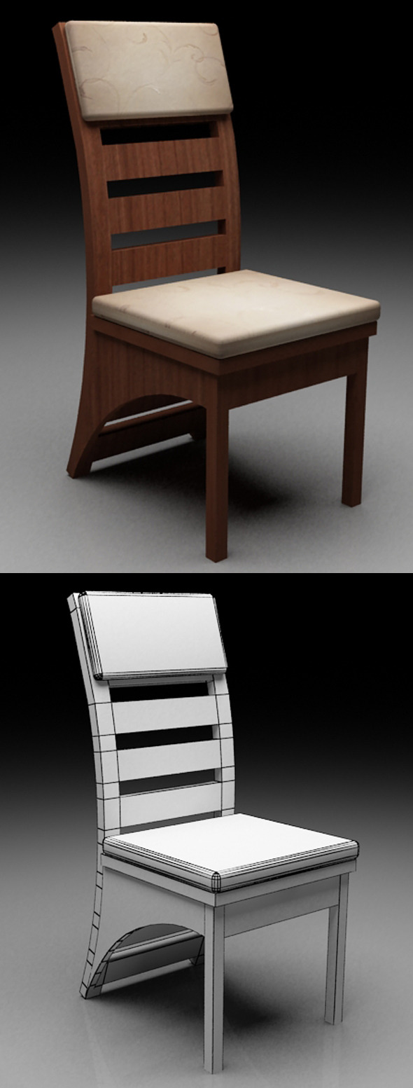 Realistic 3D Chair - 3DOcean Item for Sale