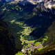 Aerial view of Campitello di Fassa, a comune in Trentino, northern of Italy - PhotoDune Item for Sale