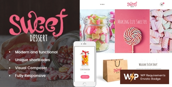Extraordinary Sweet Dessert | Candy Shop & Cafe WordPress Theme