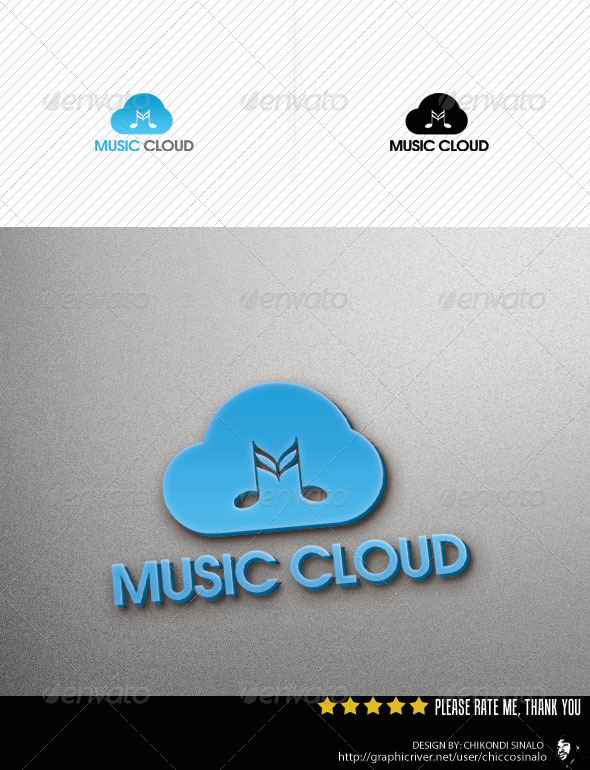 Music Cloud Logo Template