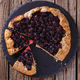 Sweet pastries with berries. Dessert.Galette with blackberries - PhotoDune Item for Sale